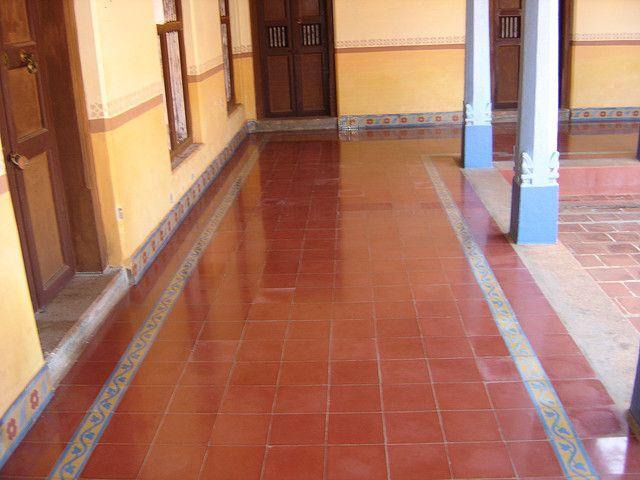 Athangudi Tiles Courtyard House Style Tile Floor Design