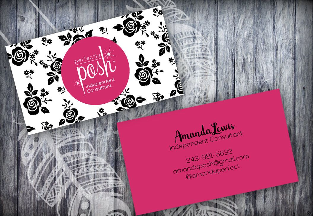 Perfectly Posh Black Roses Floral Business Card Template Layered Psd No 15 Editable Card By Fudem Floral Business Cards Perfectly Posh Perfectly Posh Business
