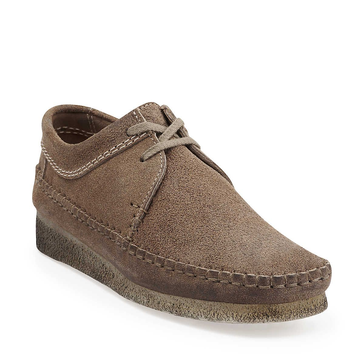 Desert Weaver-Women in Taupe Distressed Suede - Womens Shoes from Clarks