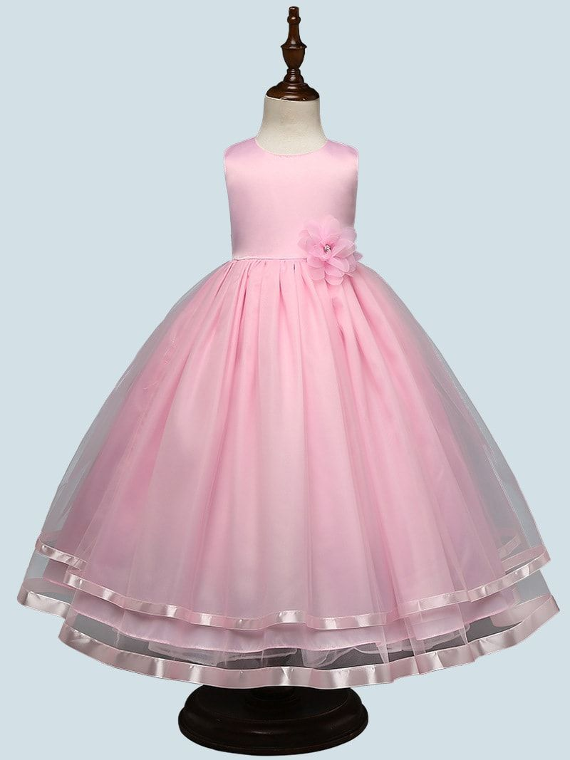 5885fa393d Girl Lace Dress Long Tulle Teen Girl Party Dress Elegant Children Clothing  Kids Dresses For Girls Princess Wedding Gown