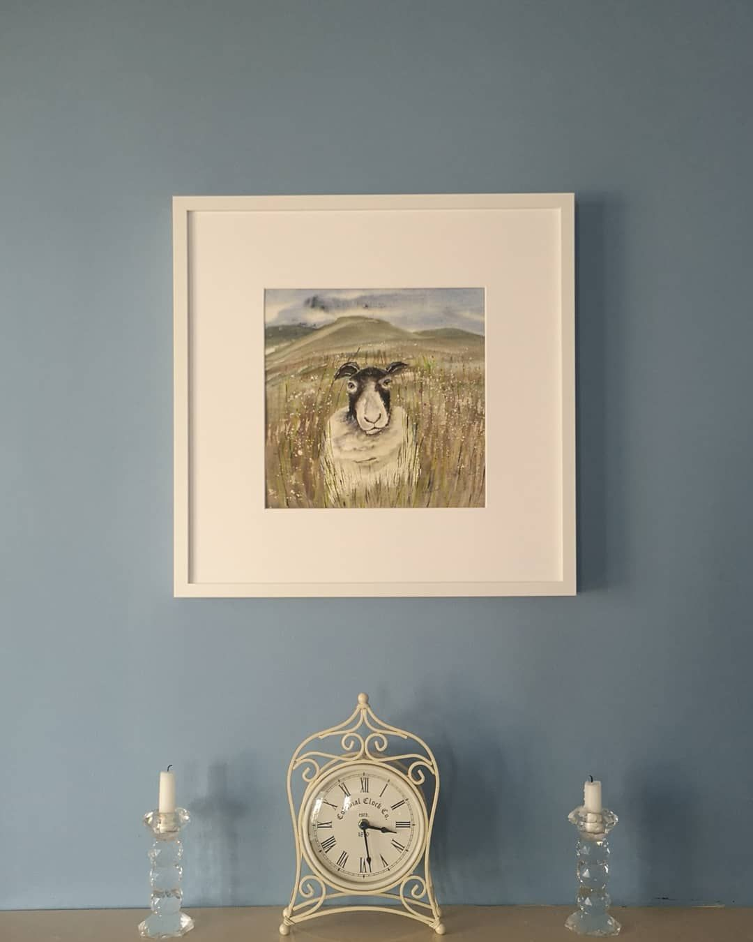 On the wall. #sheep #art #watercolour #artforsale #gallery