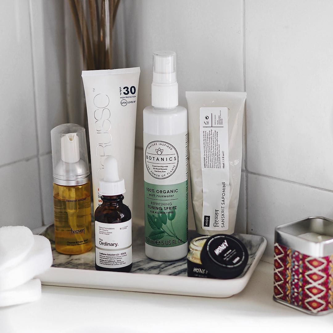 Currently Trialling New Skincare The Hm Marble Tray Stops Me From Trying To Cram Too Much On What Favorite Skincare Products Skin Care Essentials Skin Care