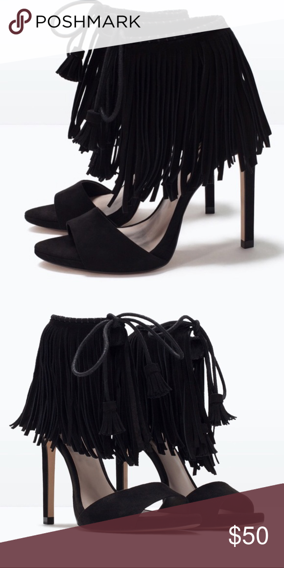 f4e634d87b9 Fabulous Zara Fringe high heels. Fabulous Zara Fringe high heels. Size 6 in  great condition
