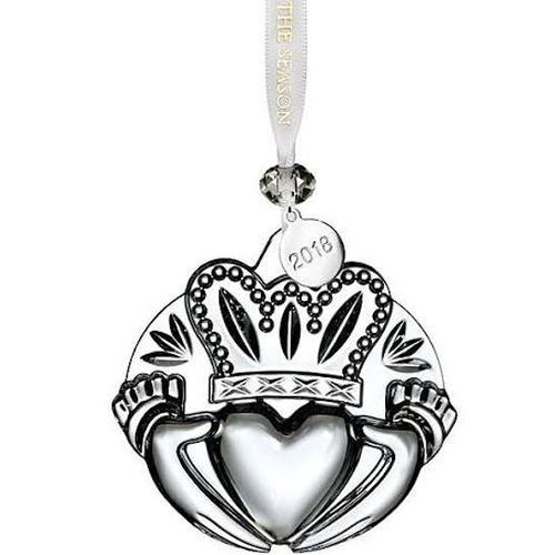 Waterford  Clear Claddagh Ornament