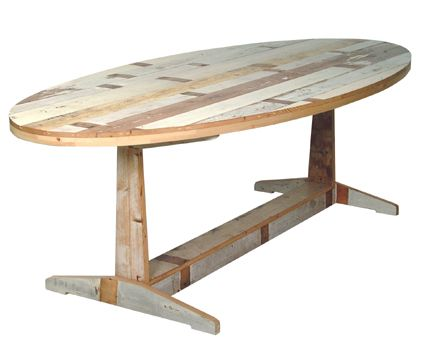 Mas Madera Reciclada With Images Oval Table Recycled Wood