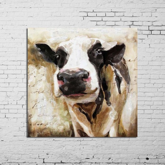 Cow Wall Art oil painting mordern abstract cute cow wall art on canvas hand