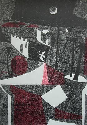 """""""Desert Night"""" by Charles Shearer (screenprint)"""
