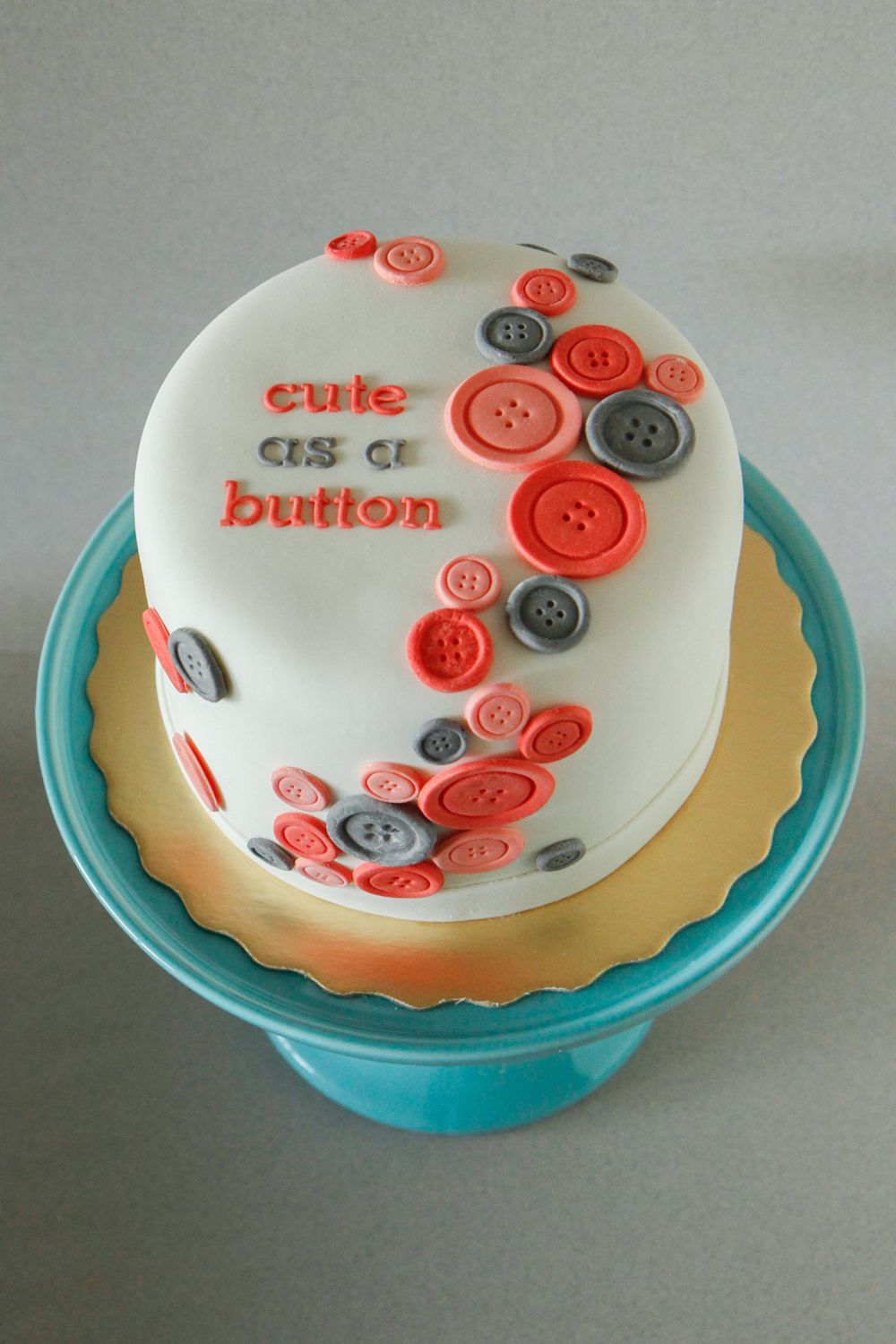 Cute as a button baby shower cake! Chocolate cake filled with ...