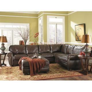 Ashley Furniture Palmer Walnut Sectional Living Room Set At Big Sandy Superstore Furniture