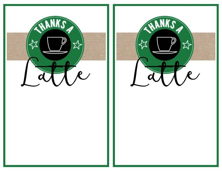 Starbucks Teacher Thank You Printable | Teaching | Teacher ...