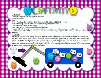 Rhyming Games Craftivity Based On Rhyming Dust Bunny Books By