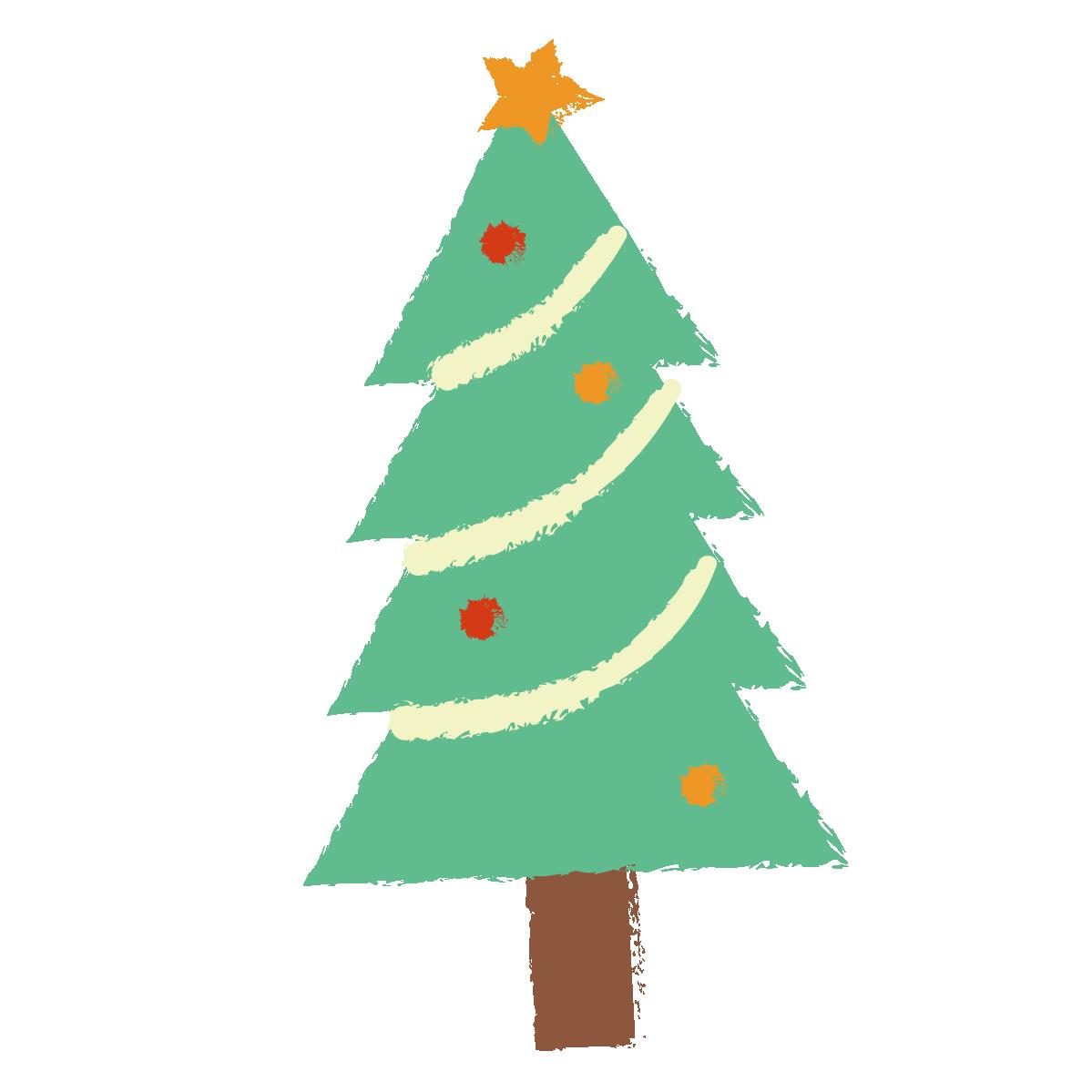 クレヨンタッチのクリスマスツリー | クリスマス 壁画, クリスマス ツリー イラスト, クリスマスツリー
