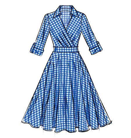 M7081 Misses Dresses