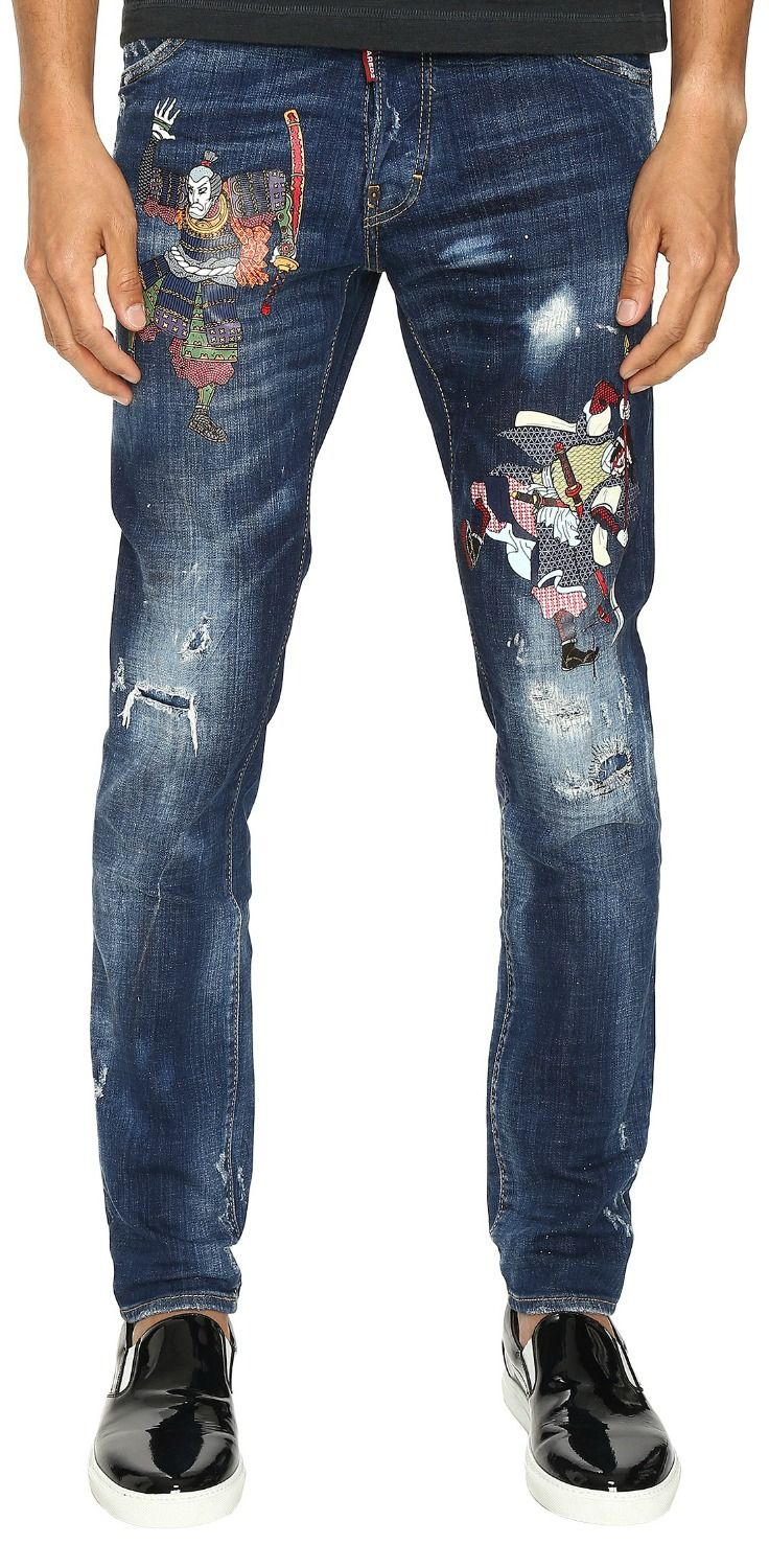 d39a702e Stay razor sharp with the amazing arts of the #DSQUARED2 Warm #Samurai  #Cool #Guy #Jeans. #men #denim #bottoms