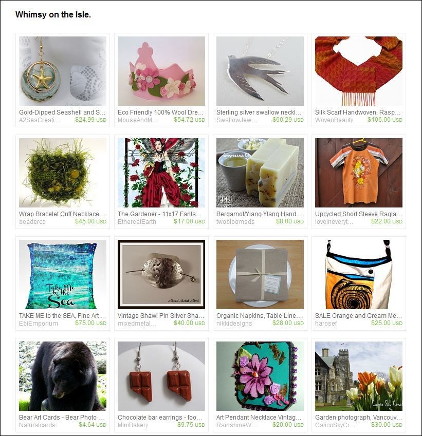 Etsy Treasury - Curated by  Jackie J from islandjavabag on Etsy.  A Collection of fun and eco-friendly items from Vancouver Island Shops! Representing our beaches, our green spaces our love of eco-friendly living and our fantastic people.