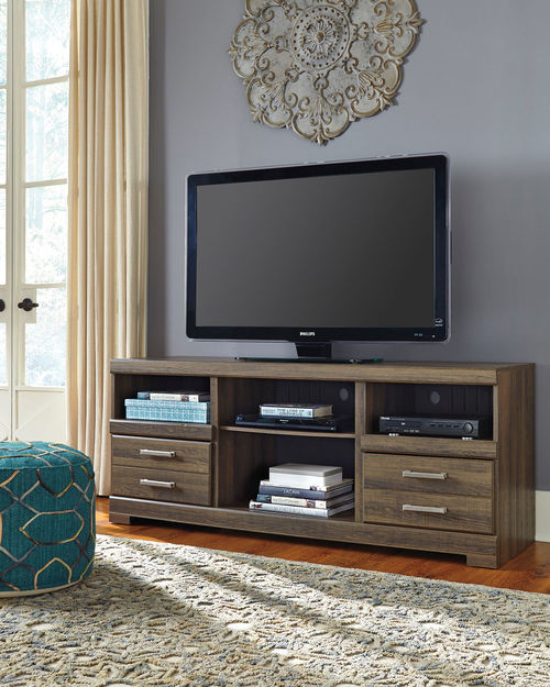Frantin Brown Lg Tv Stand With Fireplace Option Dresser