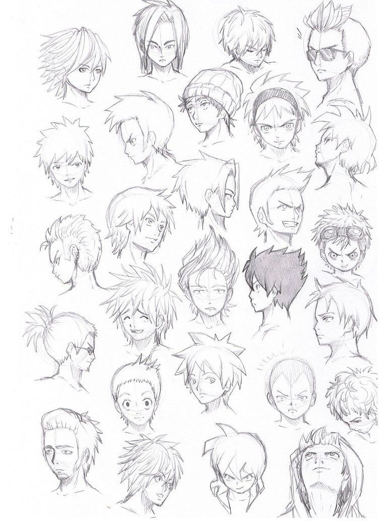 Komodotenbinza Hairstyles Deviantart Various Male More By