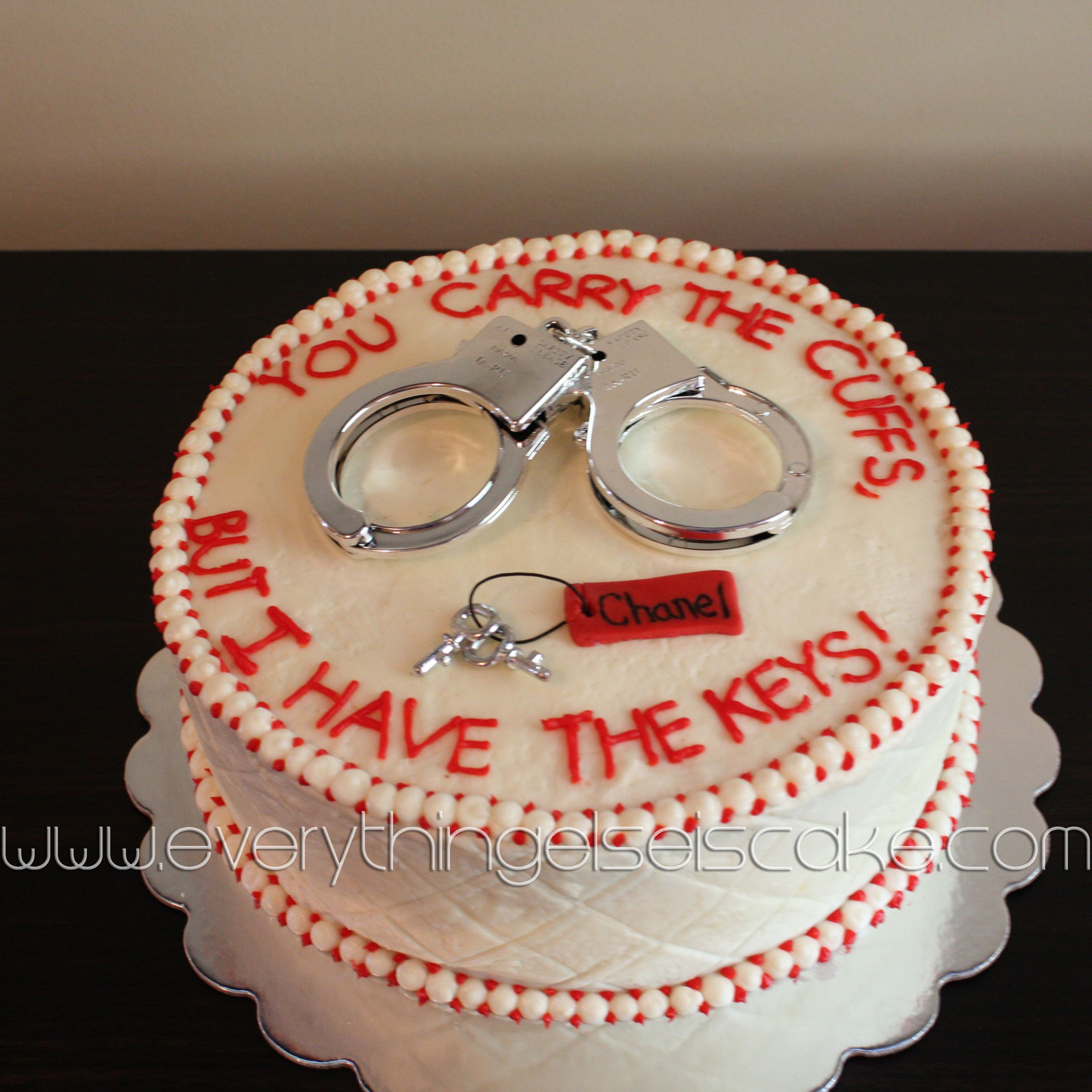Grooms Wedding Cake Ideas: Police Handcuff Groom Cake