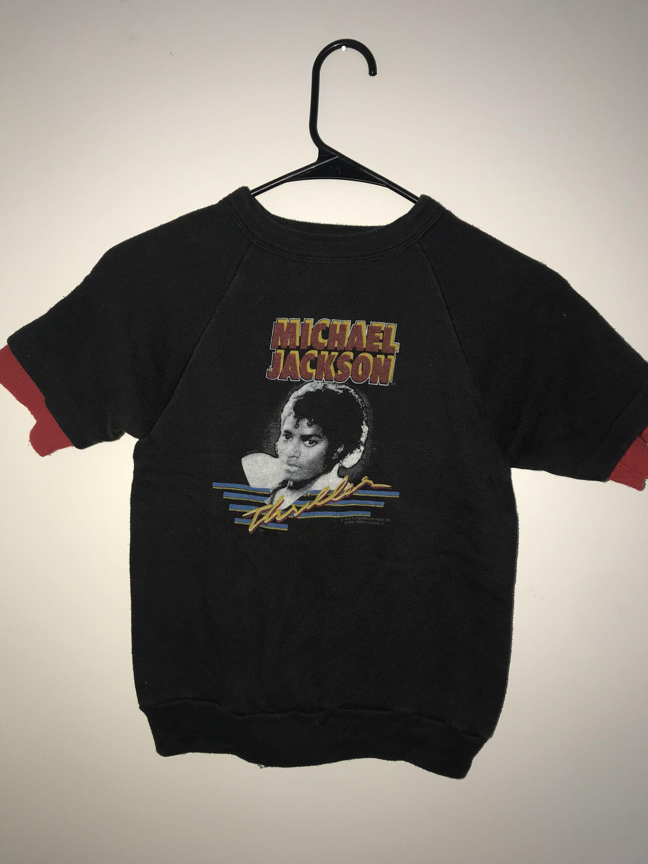 2fa359d6e98 Vintage 80 s Michael Jackson Thriller Crewneck Tee - Size XS by  RackRaidersVtg on Etsy
