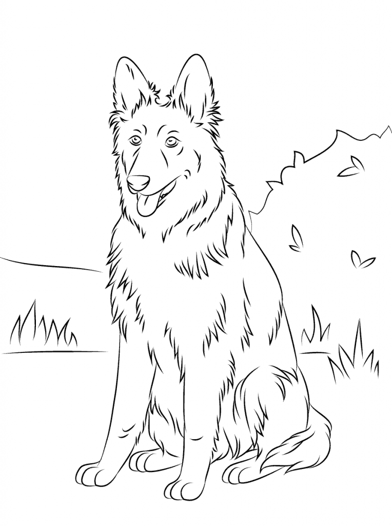 German Shepherd Coloring Pages Best Coloring Pages For Kids German Shepherd Colors Dog Coloring Book Dog Coloring Page