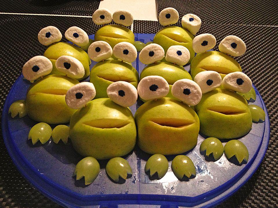 Apfelfrosch vegetarische vorspeisen kinder party und - Fingerfood kindergarten ...