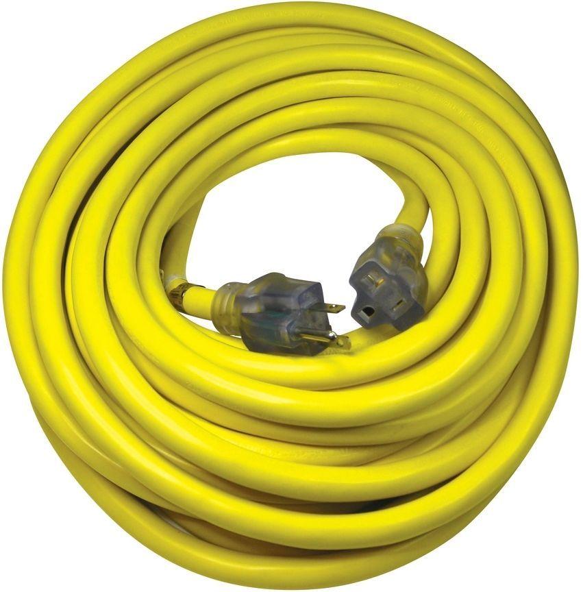 Utilitech Industrial 50 Ft 20amp 110 Volt 10 Gauge Yellow Outdoor Extension Cord Utilitech Outdoor Extension Cord