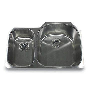 Rounded edge offset undermount kitchen sink!