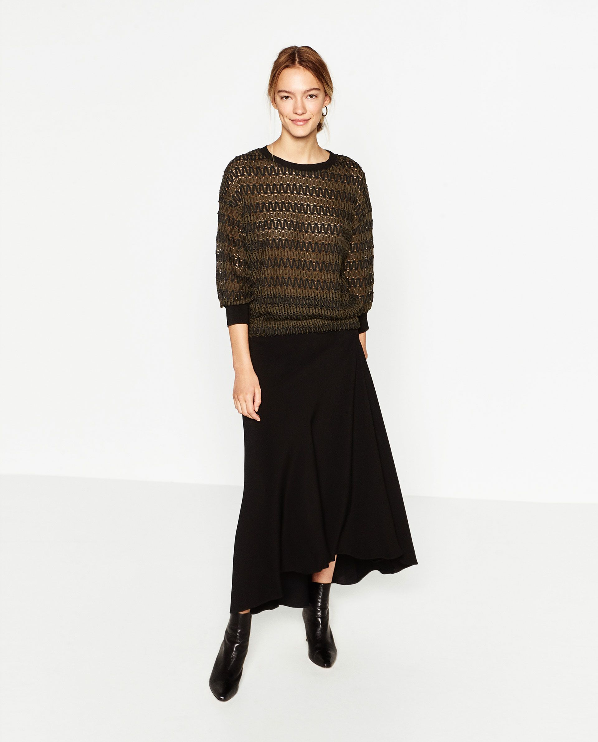 Image 1 of CROPPED JACQUARD SWEATER from Zara | Fashion ...
