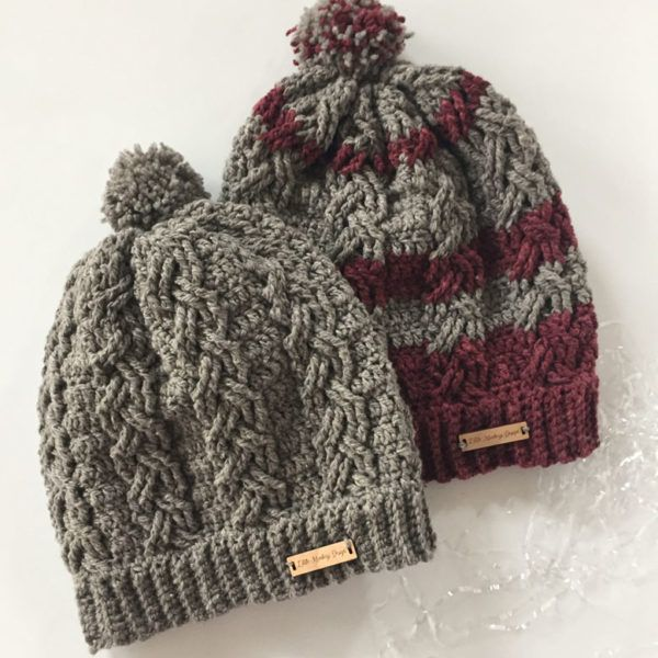 bfee98cf511 A cable stitch hat in merino wool will keep you warm and stylish on the  slopes!