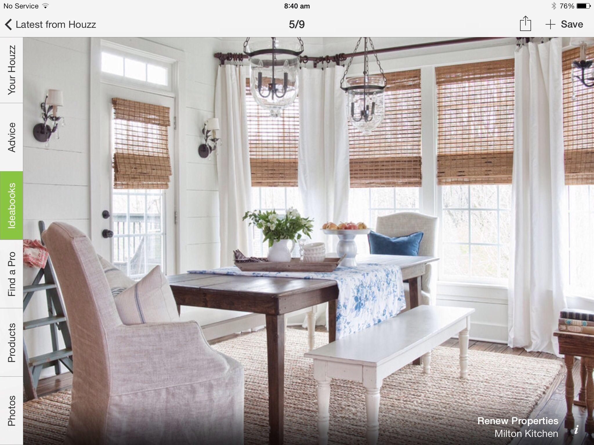 Window treatment ideas for a sunroom  nice windows  cortinas  pinterest  window sunroom and curtain ideas