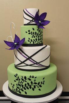 purple and green wedding cakes - Google Search | Cake Ideas ...