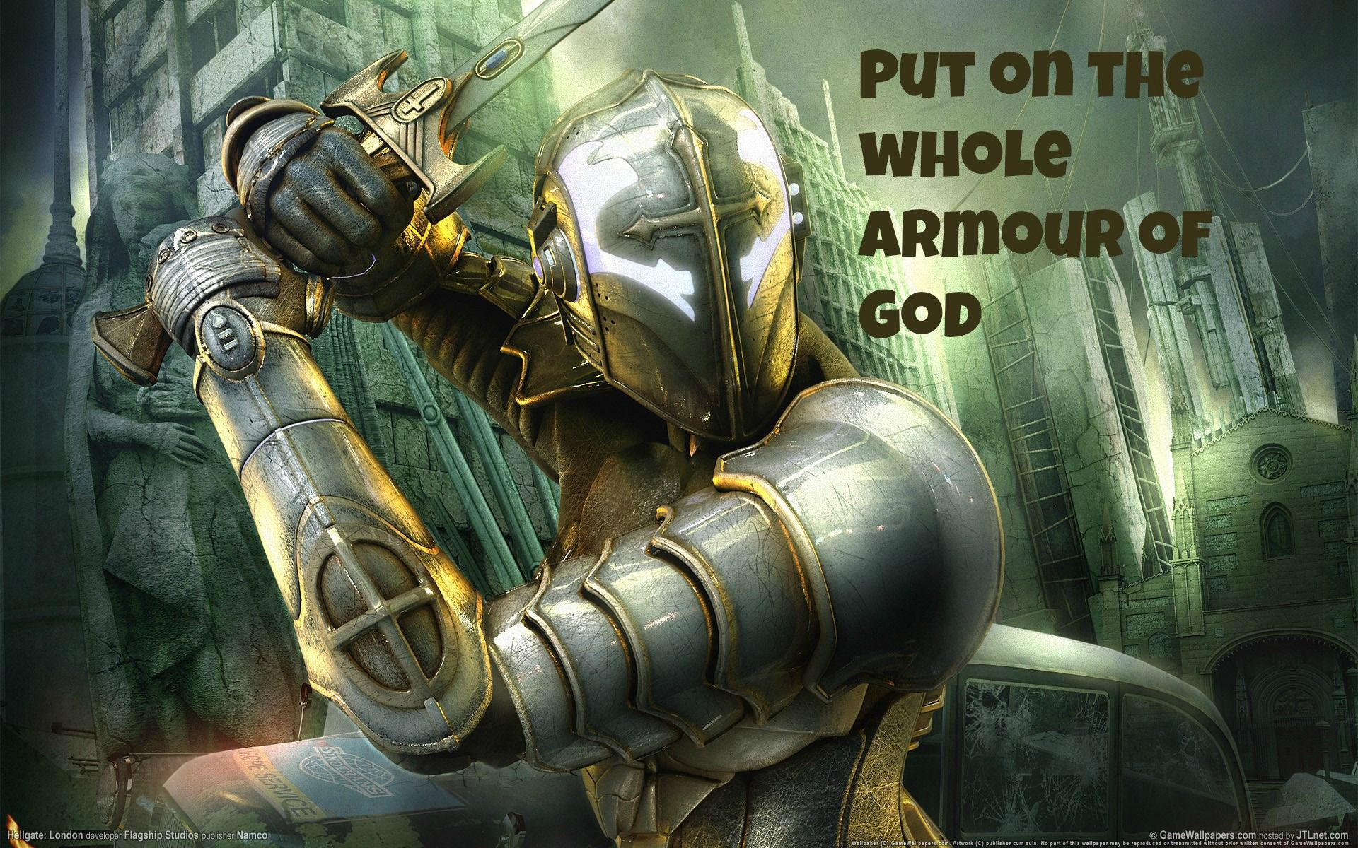 Put On The Whole Armour Of God London Poster Warriors Wallpaper