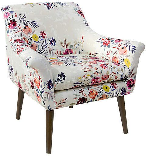 Harmon Accent Chair - Watercolor Floral | Modern armchair ...