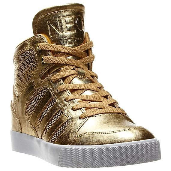 adidas gold sneakers neo