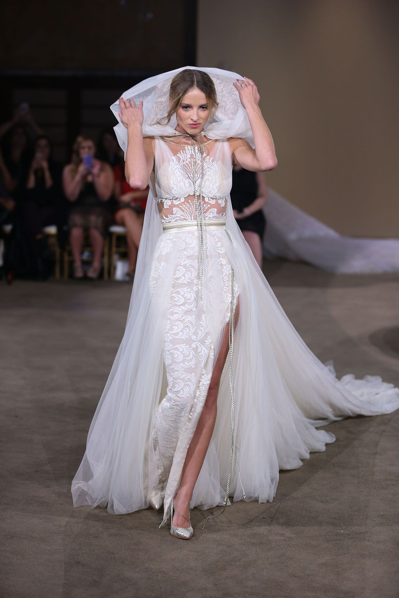 Red lace wedding dress october 2018 Galia Lahav Fall  Collection New York Bridal Market October
