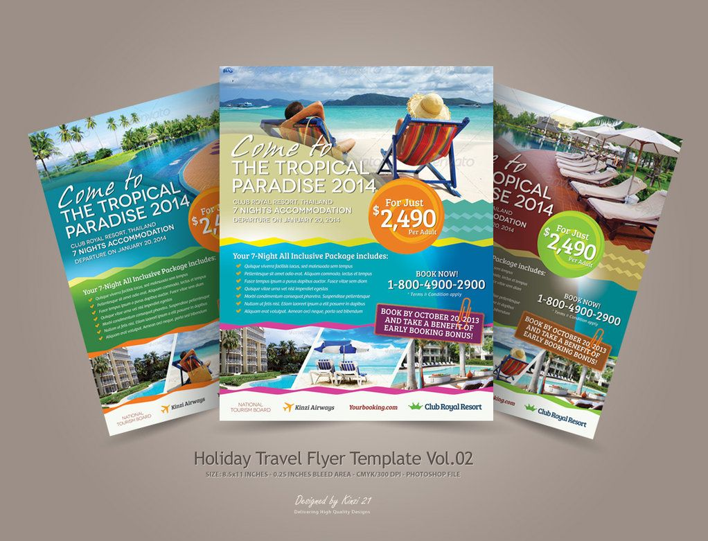 Holiday Travel Flyer Vol By Kinzi  Tourism Poster Project