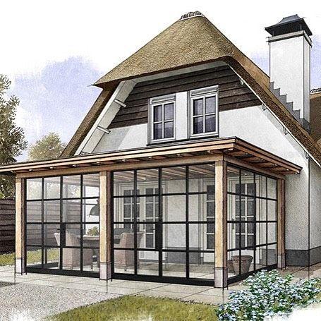 vigo all season veranda met glas in stalen kozijnen met. Black Bedroom Furniture Sets. Home Design Ideas