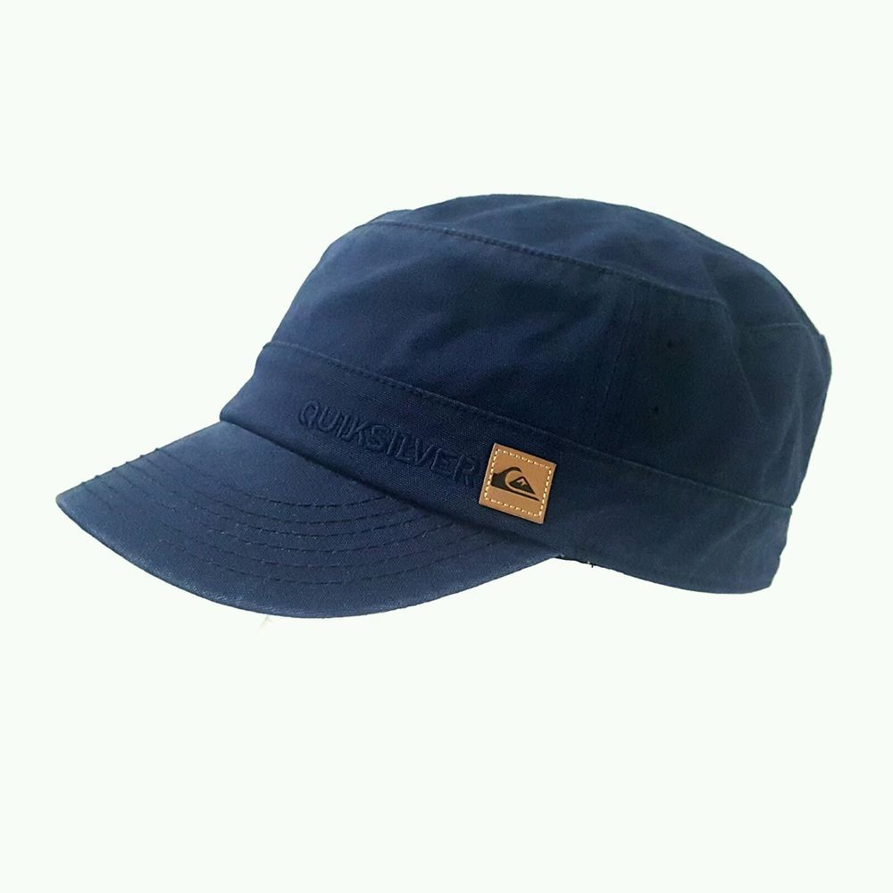 2a9dbc68fae New Men s Army Military Cadet Castro Style Cap Navy Adjustable Hat  Quiksilver  QUIKSILVER  CadetMilitary