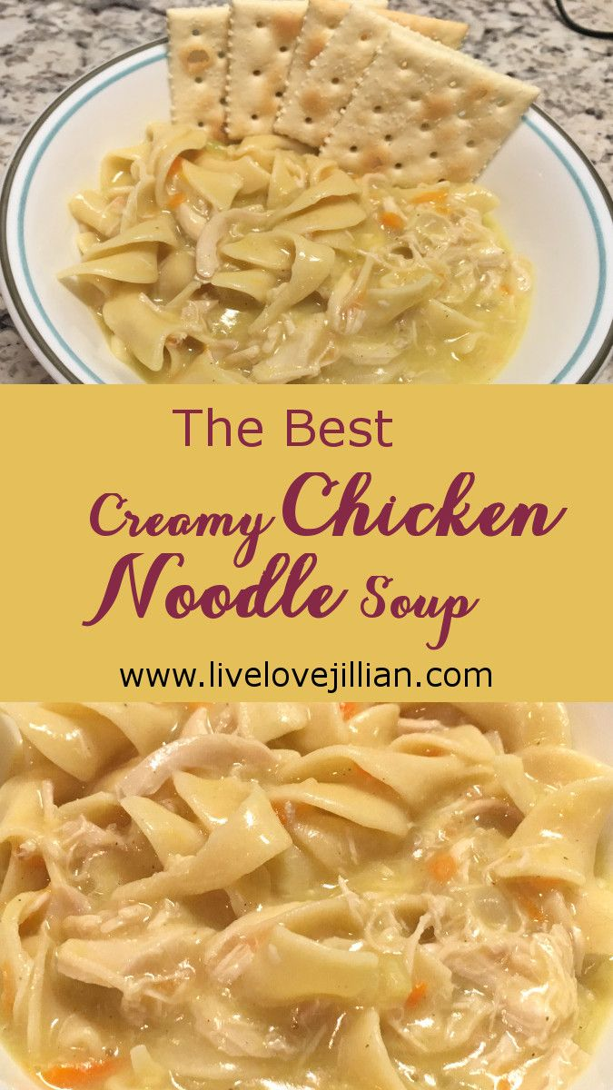 This creamy chicken noodle soup has all the characteristics of southern comfort.