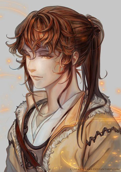 Anime Picture Original Claparo Sans Long Hair Single Tall Image Brown Hair 724x1024 390766 En Character Portraits Character Inspiration Art