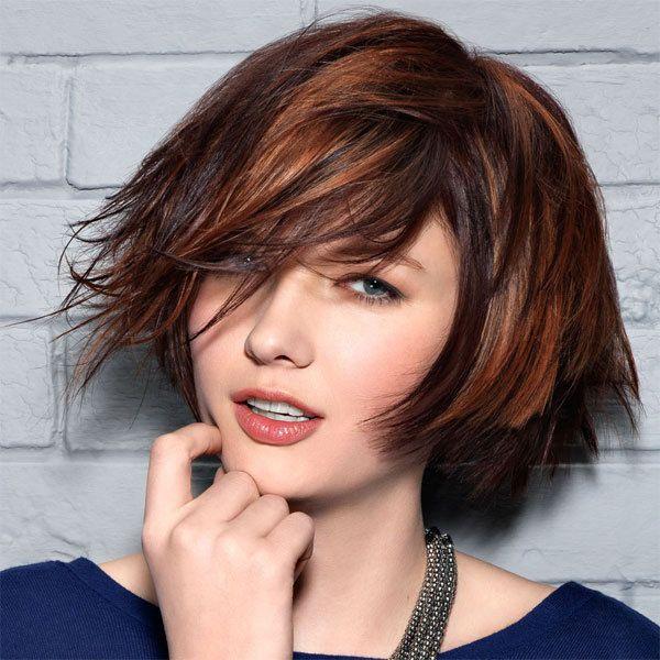 Fabulous mèches cuivrés sur chatain | Cheveux | Pinterest | Meche cuivré  CT45