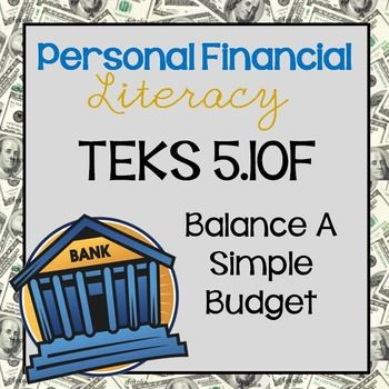 Personal Financial Literacy freebie for 5th grade | #NotConsumed ...