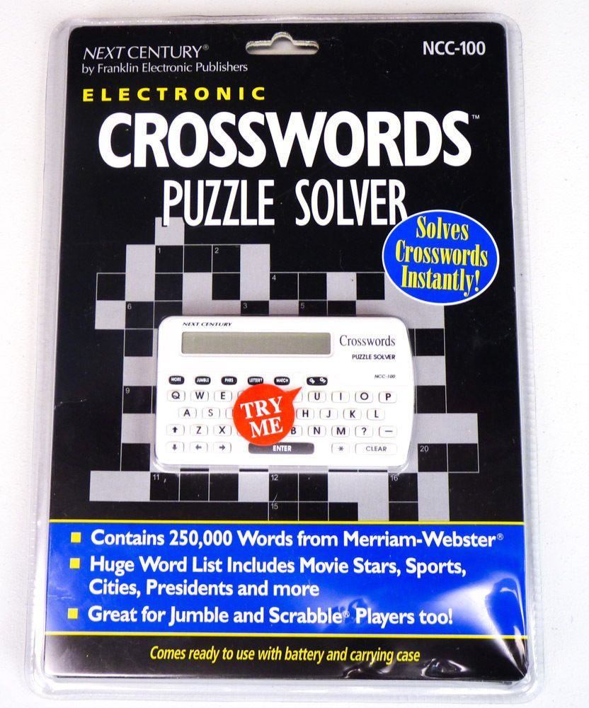 NEW Next Century CROSSWORD PUZZLE SOLVER Franklin Scrabble