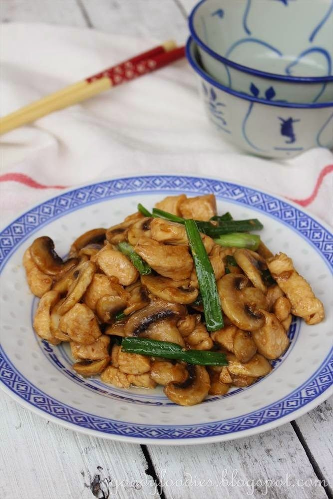 GoodyFoodies: Recipe: Chinese Takeaway Chicken with Mushrooms