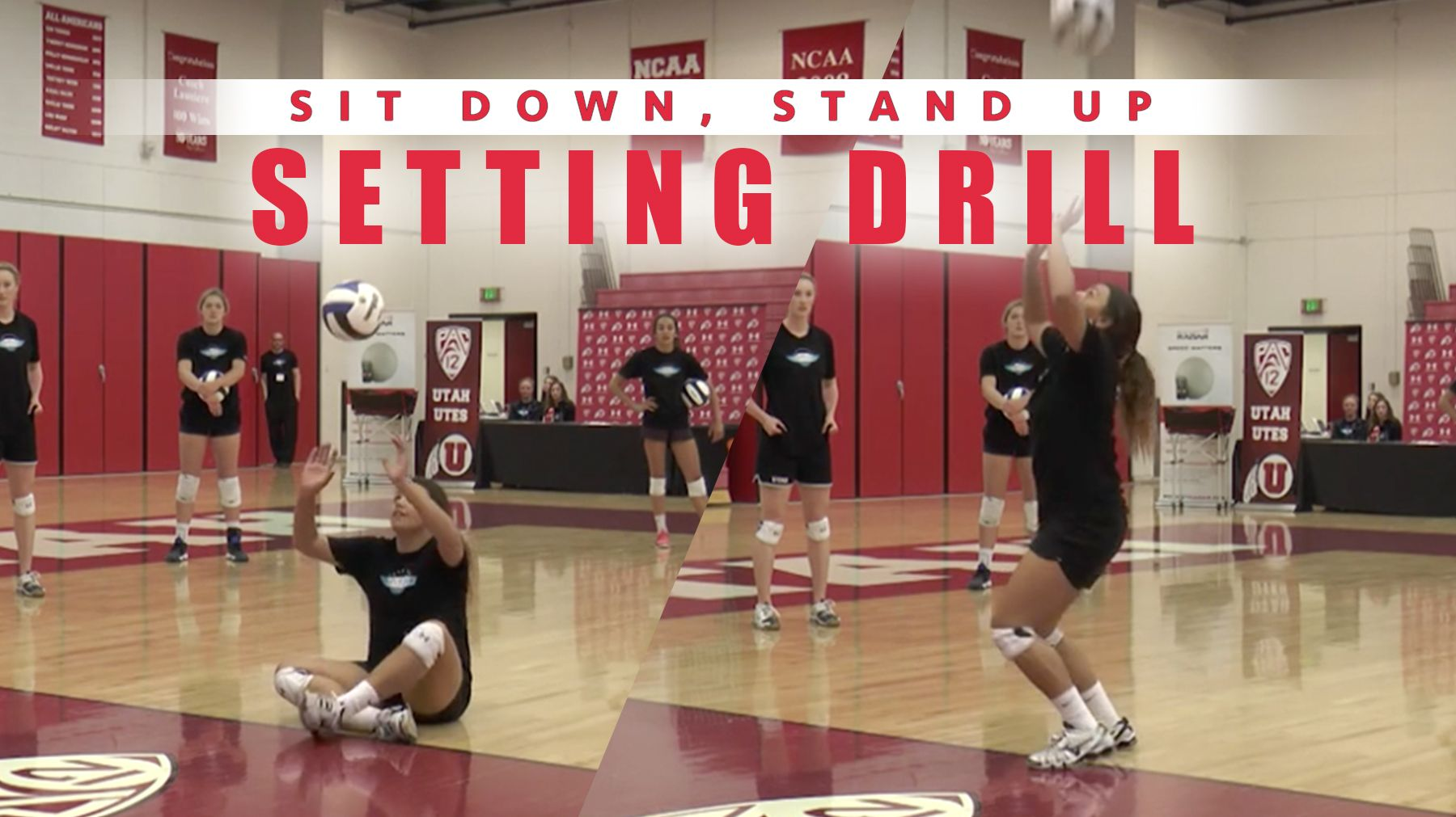 Sit Down Stand Up Setting Drill Setting Drills Coaching Volleyball Volleyball Workouts