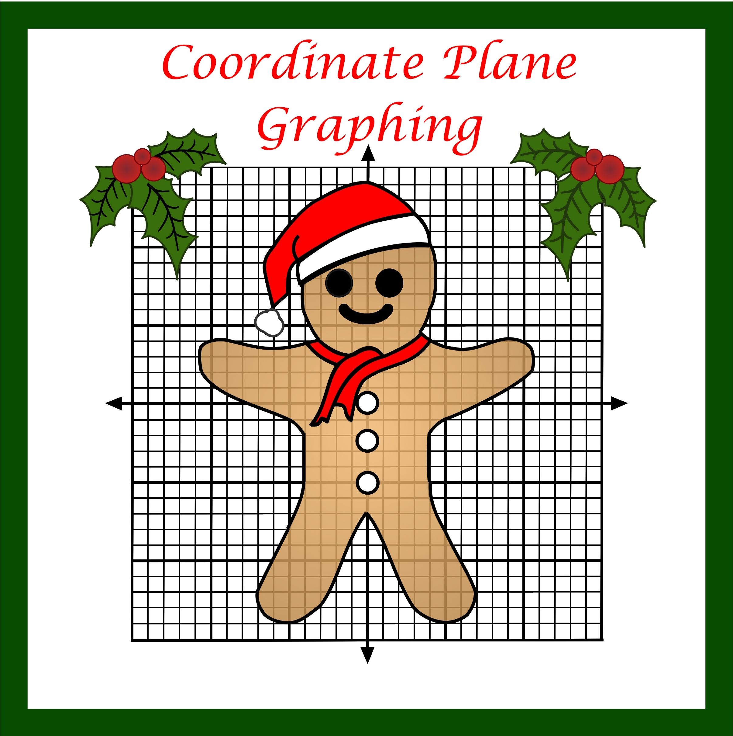 Coordinate Plane Christmas Graphing