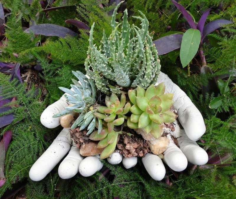 Gartendeko Aus Beton - Hände Als Blumentopf | Basteln | Pinterest ... Gartendeko Beton Selber Machen