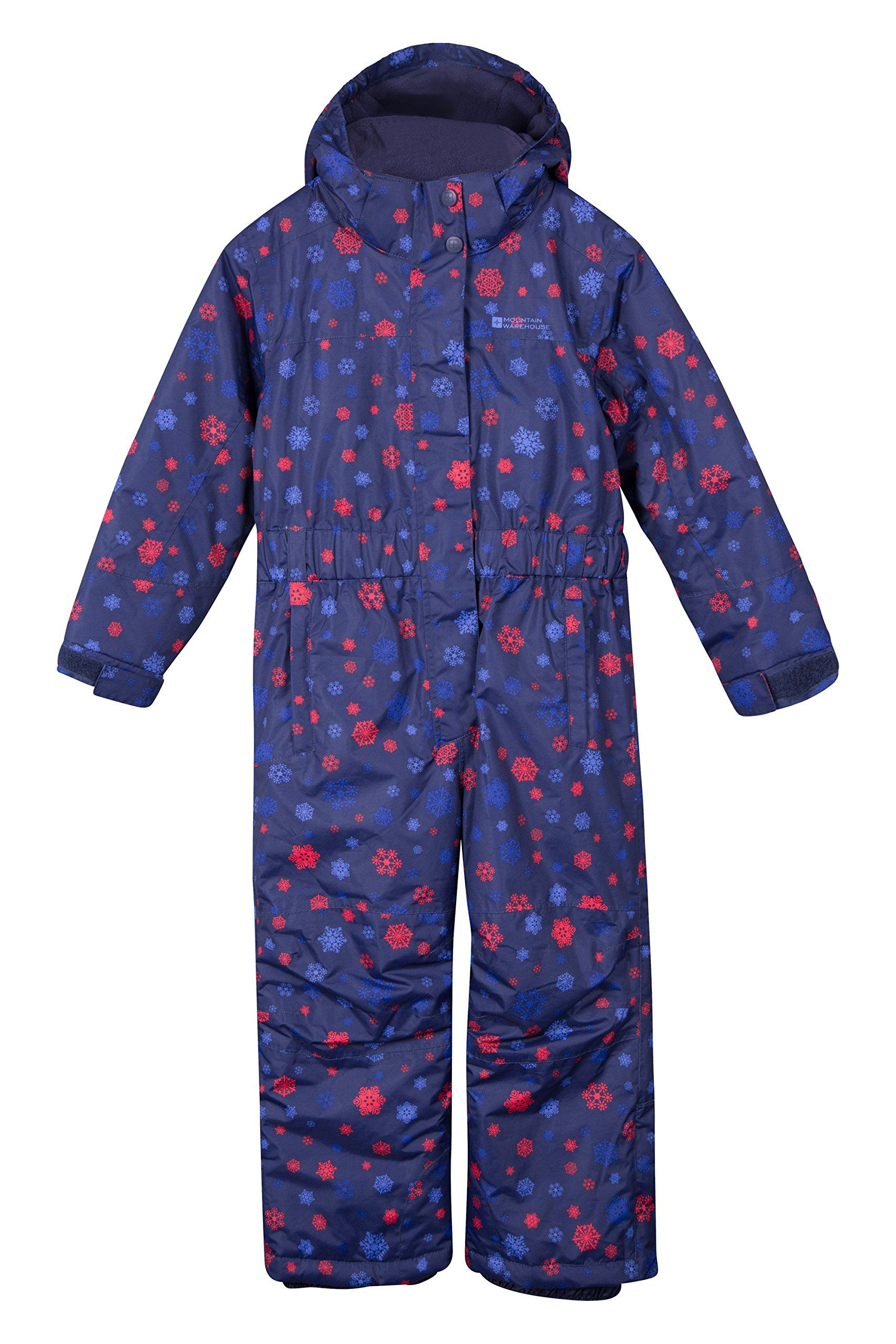 e3504854a Mountain Warehouse Cloud Printed Kids All in One Snowsuit Navy 2-3 ...