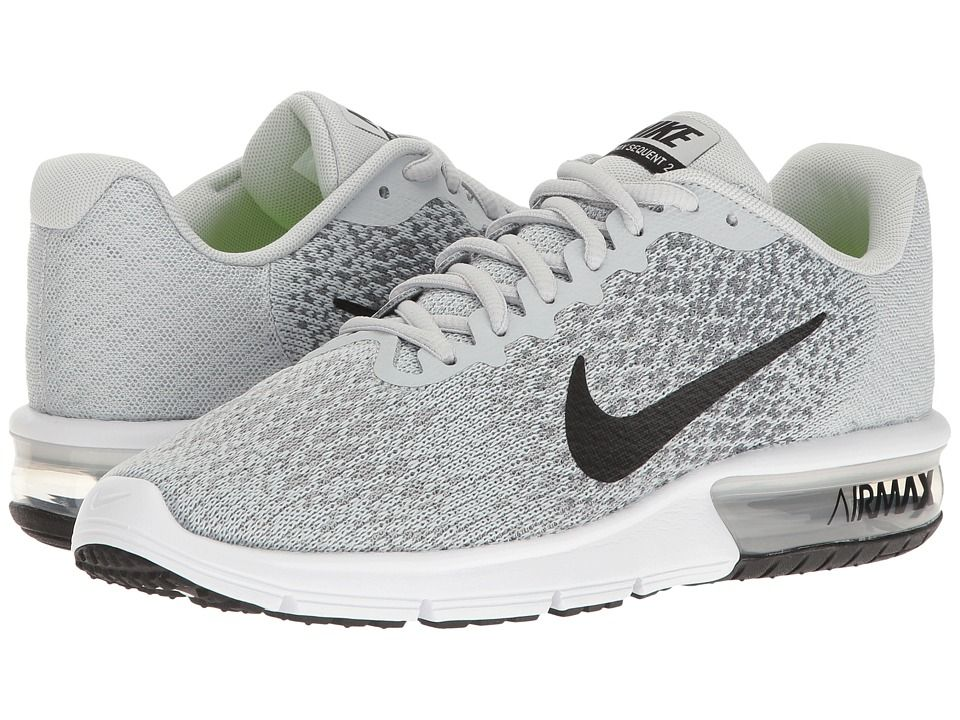 015fd6afa325d6 Nike Air Max Sequent 2 Women s Running Shoes Pure Platinum Black Cool  Grey Wolf Grey