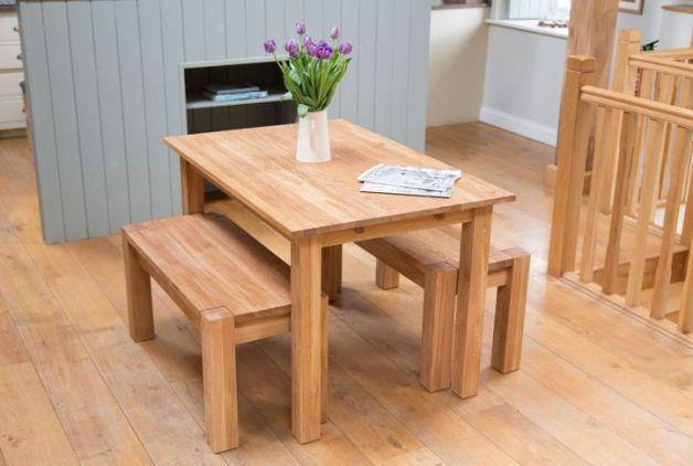 Beautiful Small Kitchen Table With Bench Dengan Gambar